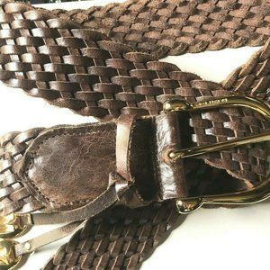 Michael Kors Braided Handcrafted Leather Belt